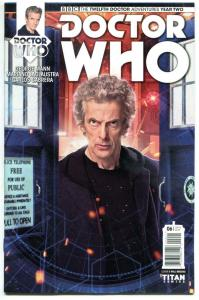 DOCTOR WHO #6 B, NM, 12th, Tardis, 2016, Titan, 1st, more DW in store, Sci-fi