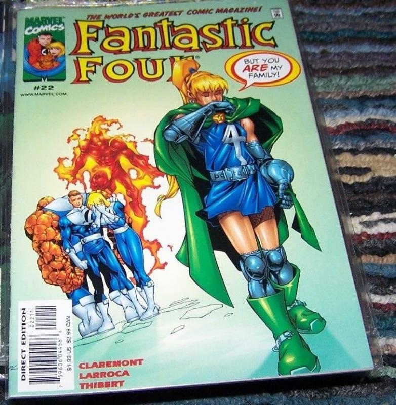 FANTASTIC FOUR #22  vol 3 1999 marvel  VALERIA VON DOOM+ DR DOOMS DAUGHTER