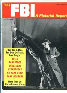 THE FBI A PICTORIAL REPORT #1 1957-Ku Klux Klan-PULP-VICE-SOUTHERN STATES PED-nm