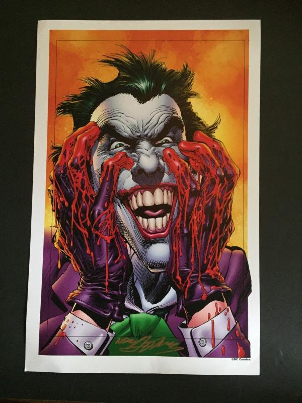 NEAL ADAMS SIGNED- THE JOKER LAMENATED ART WORK-WONDER-CON HOLLYWOOD
