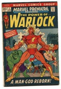 Marvel Premiere #1 Warlock Begins Marvel comic book VG