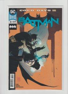 Batman #51 NM- 9.2 DC Universe Rebirth Cold Days Part One