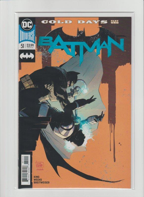 Batman #51 NM 9.2 Tom King Lee Weeks, Cold Days Part One!!