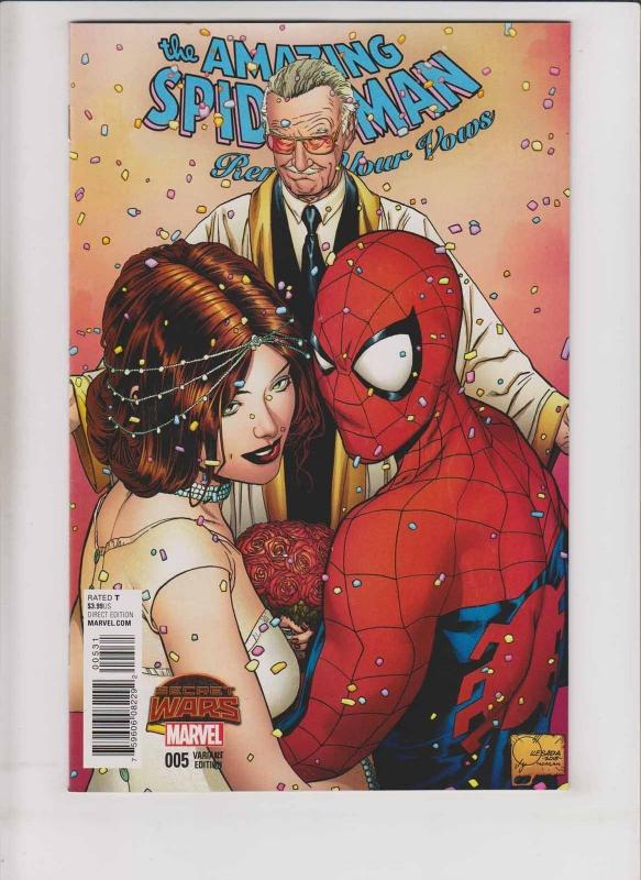 Amazing Spider-Man: Renew Your Vows #5 VF/NM joe quesda 1:100 variant - stan lee
