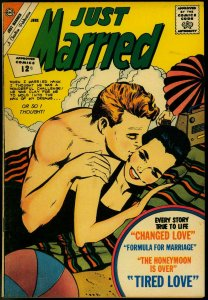 Just Married #25 1962- Spicy Romance Charlton Comic- Beach cover VF