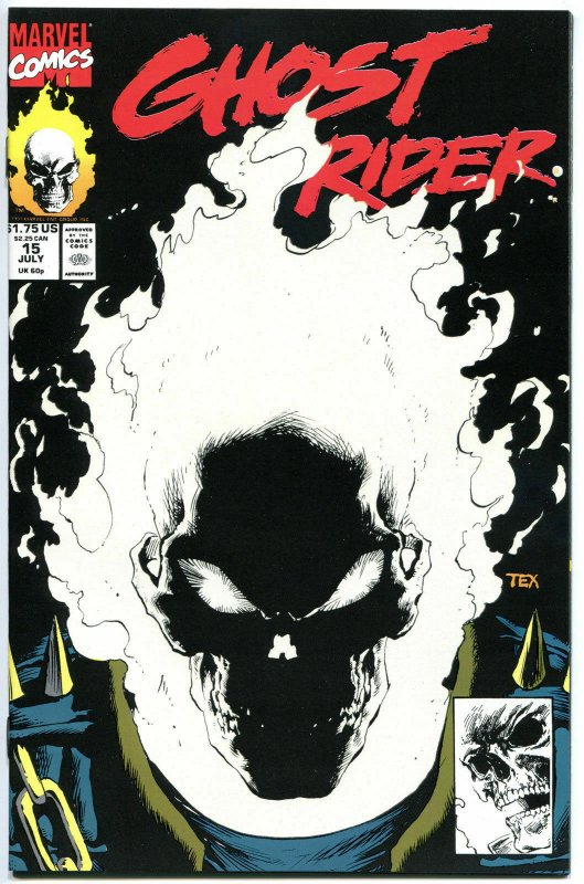GHOST RIDER 15, NM+, Mark Texeira, Glow-in-the-Dark, 1st, 1990, more GR in store