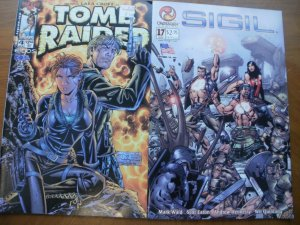 2 Near-Mint Comic: Top Cow Image TOMB RAIDER: The Series #4 & Crossgen SIGIL #17