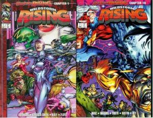 WILDSTORM RISING (1995 IM) 1-2 (2.50 CVR;W/ CARDS) COMICS BOOK