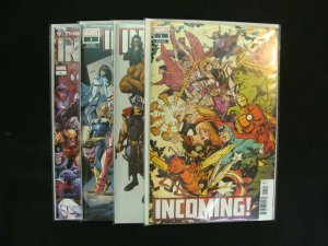 Incoming! #1 Variant Covers A B F H Set of 4 Comics Marvel Universe