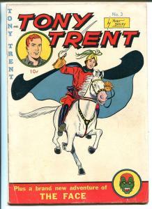 TONY TRENT #3 1948-PUB ENT-THE FACE-SUPER HERO-TITLE CHANGE-vg/fn