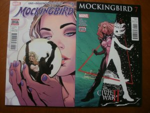 2 Marvel Comics (2016) MOCKINGBIRD #5 #7 (Civil War II) Cain Rosenburg