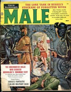 Male Magazine October 1960-FROGMEN V. NAZIS-GGA-SPICY f/g