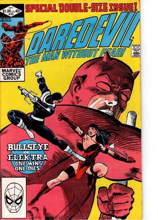 DAREDEVIL #181VFN/ NEAR MINT DEATH OF ELEKTRA $20.00