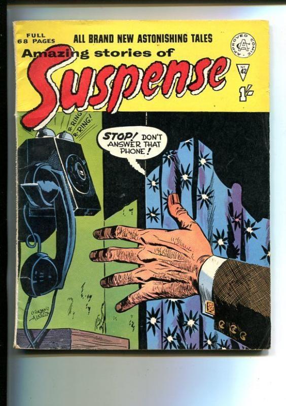 AMAZING STORIES OF SUSPENSE-#42-BRITISH-HORROR-SCI-FI-HERBIE-vg
