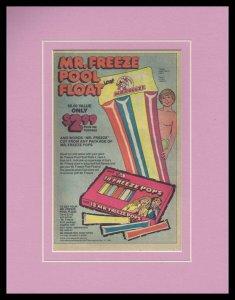 1980 Mr. Freeze Pool Float Framed 11x14 ORIGINAL Vintage Advertisement