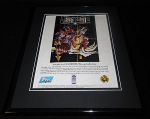 1993 Deathmate Topps Valiant Framed 11x14 ORIGINAL Vintage Advertisement