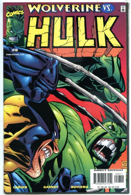 HULK #8, NM, vs Wolverine, Bruce Banner, Incredible, 1999, more Marvel in store
