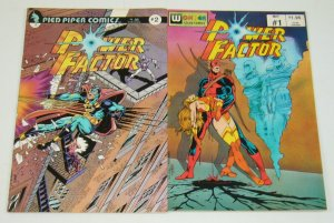 Power Factor #1-2 VF/NM complete series - carmine infantino - wonder color comic