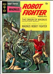 Magnus Robot Fighter #22 1968-Gold Key-Russ Manning-robot cover-origin-VF