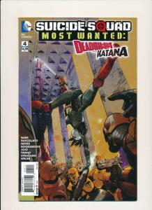DC comics SUICIDE SQUAD MOST WANTED Deashot and Katana #4 FINE (PF792)
