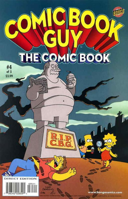 Comic Book Guy The Comic Book #4 VF/NM; Bongo | save on shipping - details insid