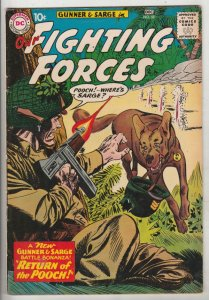Our Fighting Forces #58 (Dec-60) FN/VF+ High-Grade Gunner and Sarge, Pooch