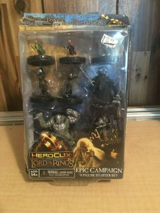 Heroclix Lord of the Rings Epic Campaign Starter Set with 8 Figures Frodo MFT4