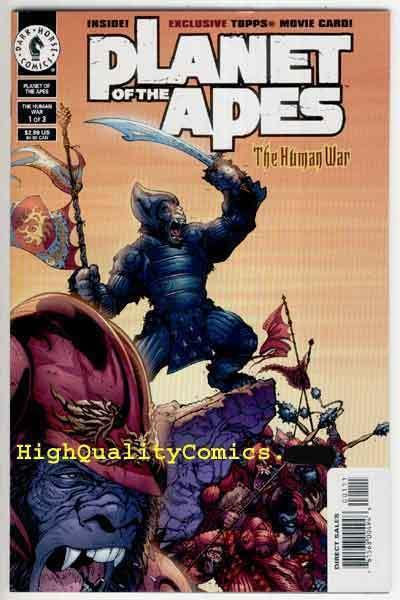 PLANET of the APES #1, NM+, Human War, Ian Edginton, Guns, more in store