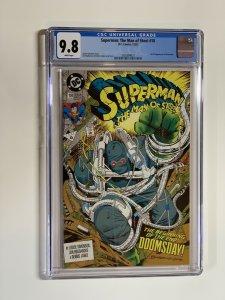 Superman The Man Of Steel 18 Cgc 9.8 Wp Dc Comics
