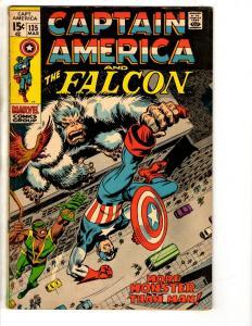 Captain America # 135 VF Marvel Comic Book Falcon Avengers Iron Man Hulk TD1
