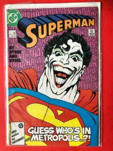 SUPERMAN GUESS WHO'S IN METROPOLIS..? #9 1987 DC / MID+ QUALITY