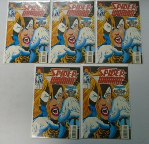 Spider-Woman #1 2nd series lot of 5 NM (1993)