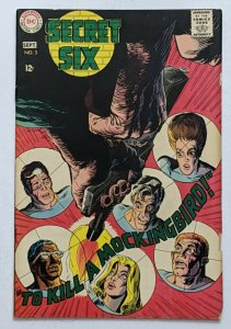 Secret Six #3 (Sept 1968, DC) VG/FN 5.0 Jack Sparling cover and art