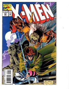 6 X-Men Marvel Comic Books # 33 34 35 36 37 38 Gambit Sabretooth Beast Storm WM1