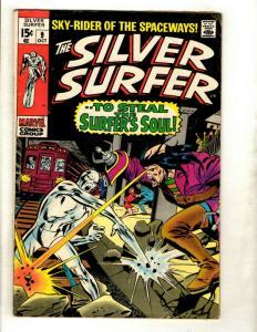 Silver Surfer # 9 FN Marvel Comic Book Avengers Fantastic Four Galactus GK1