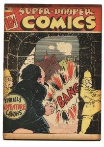 Super-Dooper #7 1946-SHOCK GIBSON-Hitler appearance VG/FN