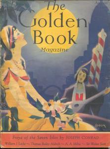 Golden Book 8/1930-Leech-pulp fiction-Conrad-Milne-Owen Wister-Remington-G