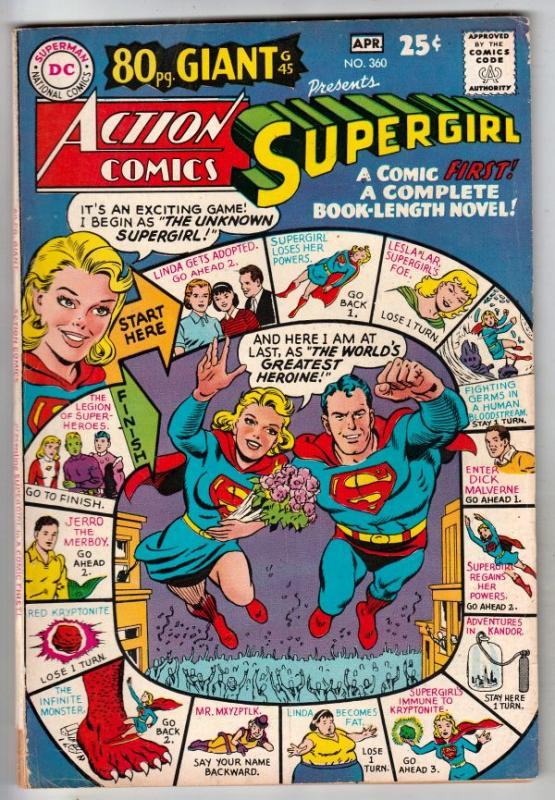 Action Comics #360 (Apr-68) FN/VF+ High-Grade Superman