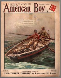 American Boy 2/1935-pulp fiction-Anton Otto Fischer-Schoonover & Brinkerhoof-VG