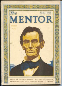 Mentor 3/1929-Abe Lincoln cover-Historic Homes and Memorials issue-Bok Tower-...