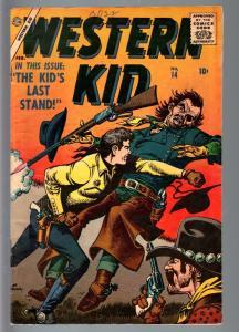 WESTERN KID #14-1956-ATLAS-JOE MANEELY-SILVER AGE WESTERN-VG VG