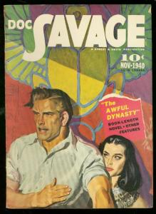 DOC SAVAGE NOV 1940-AWFUL DYNASTY-GOOD GIRL ART --S & S FN