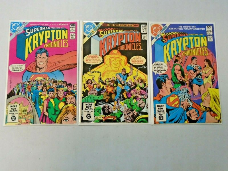 Superman The Krypton Chronicles Set #1-3 8.0 VF (1981)