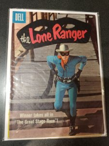 Lone Ranger #116 1958-Dell-Clayton Moore photo cover