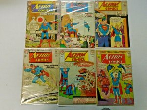 Silver Age Action Comics Lot 12¢ Covers #300-350 11 Diff Avg 3.0-4.0 (1963-1967)