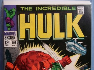 2 SILVER AGE MARVEL COMICS THE INCREDIBLE HULK BOOKS ISSUES #106 & #118 L@@K!!