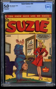 Suzie Comics #50 CBCS VG/FN 5.0 Off White to White