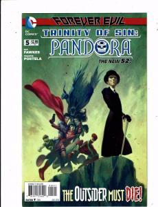Lot of 4 New 52 Trinity of Sin: Pandora DC Comic Books #5 6 7 8 LH5