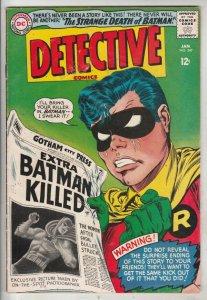 Detective Comics #347 (Jan-66) FN/VF+ High-Grade Batman