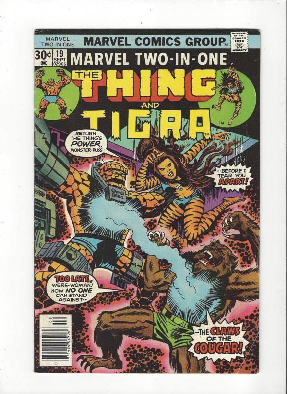 Marvel Two in One #19 Thing / Tigra VG